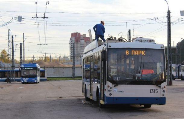 Троллейбусы будут ходить попроспекту Ветеранов в