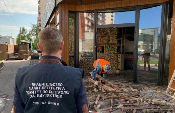 Незаконную хинкальную снесли вВыборгском районе