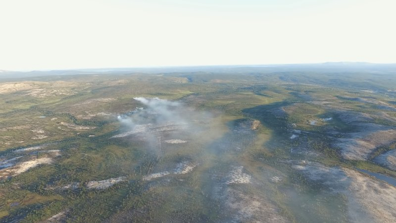 Режим ЧС объявлен в одном из районов Хабаровского края из-за лесного пожара