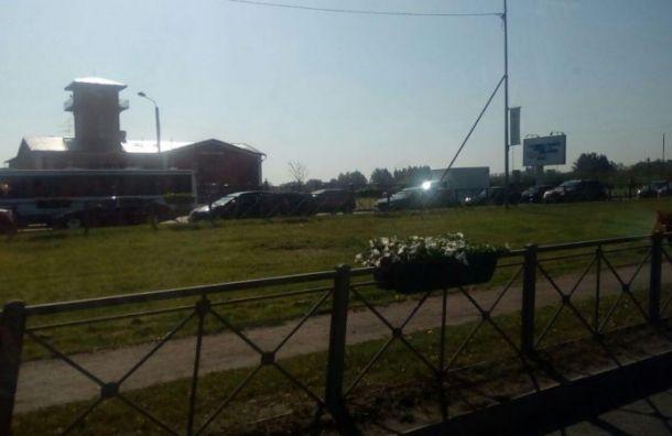 ПМЭФ спровоцировал 5-километровую пробку наПулковском шоссе