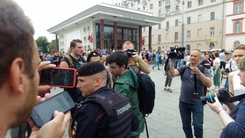 Организаторы провокации 12 июня не пришли на согласованный митинг за Голунова