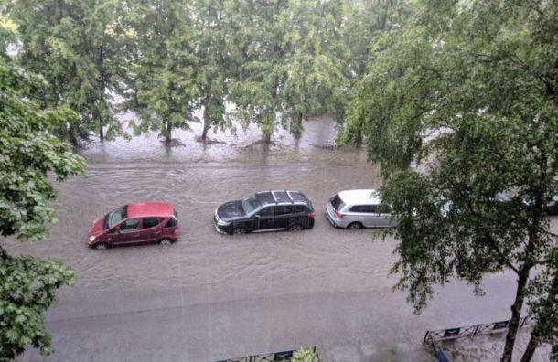 При сильных ливнях вПетербурге будут перекрывать движение