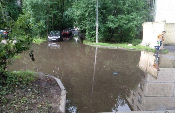 После ливня затопило улицу Бабушкина