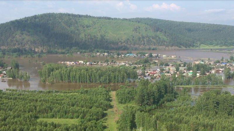 Уровень воды в реке Ия в Тулуне прекратил подниматься