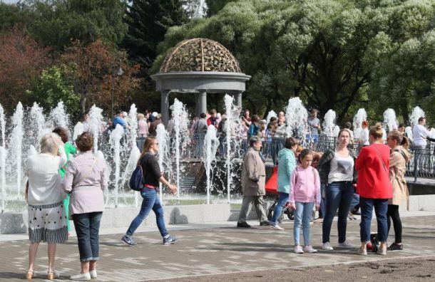 Первый пешеходный фонтан открылся вПетербурге