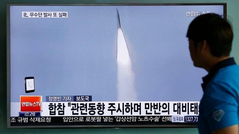 Пхеньян запустил два неопознанных снаряда в направлении Японского моря