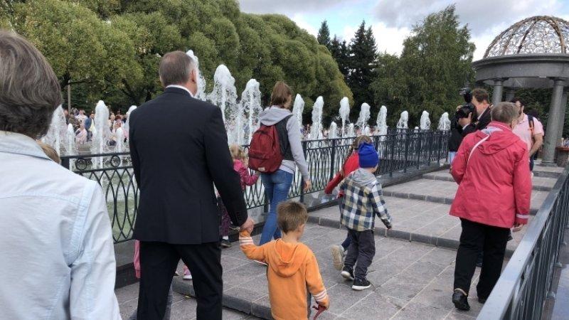 Беглов заявил, что Любашинский фонтан отремонтировали на сэкономленные деньги «Водоканала»