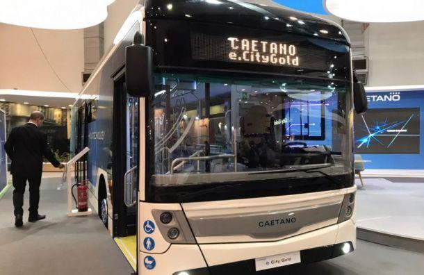 Португальский электробус протестируют наулицах Петербурга