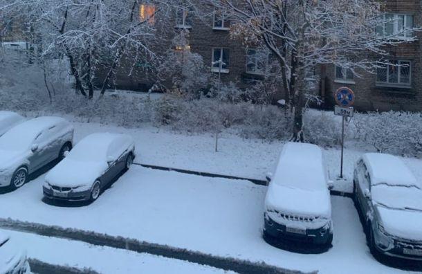Зима близко: ночью вПетербурге снова выпал снег