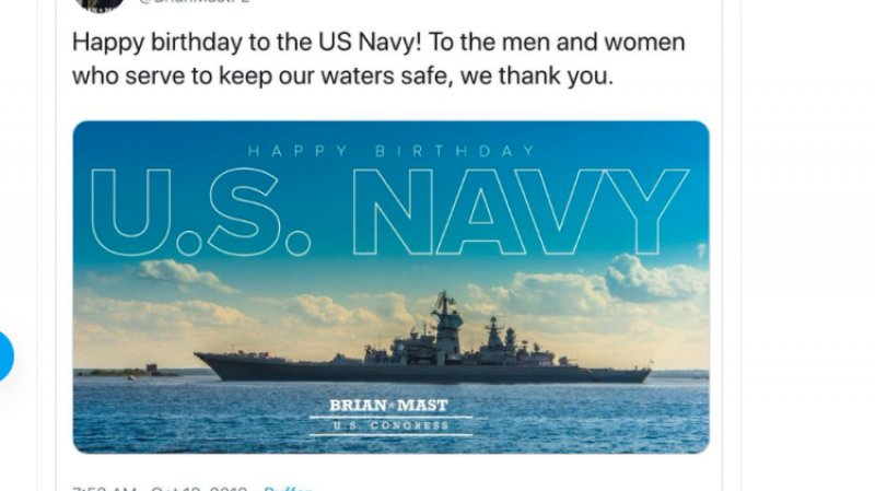 Конгрессмен поздравил американские ВМС фотографией с российским «убийцей авианосцев»