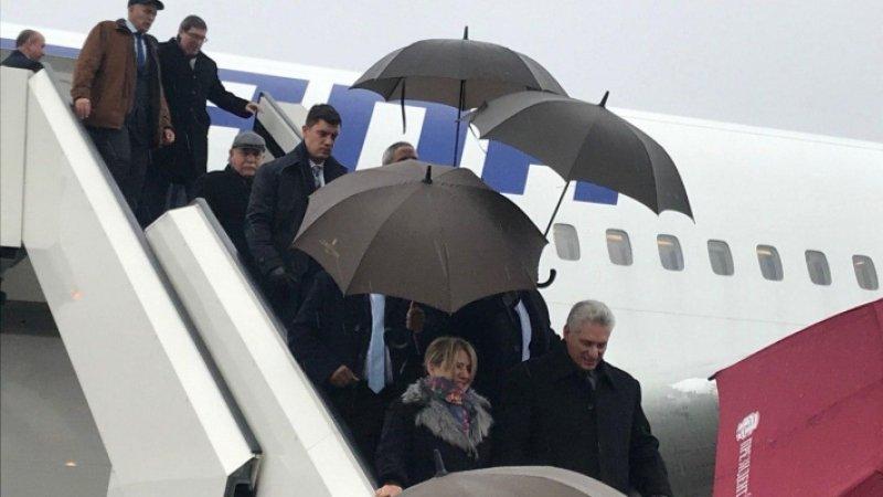 Президент Кубы прибыл в Петербург в рамаках визита в Россию