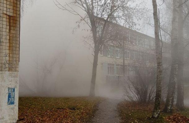 Трубу скипятком прорвало удетского сада вКолпино