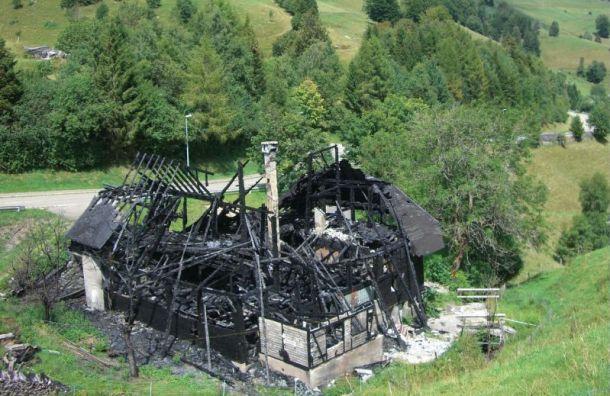 Одноэтажный дом сгорел вЛевашово
